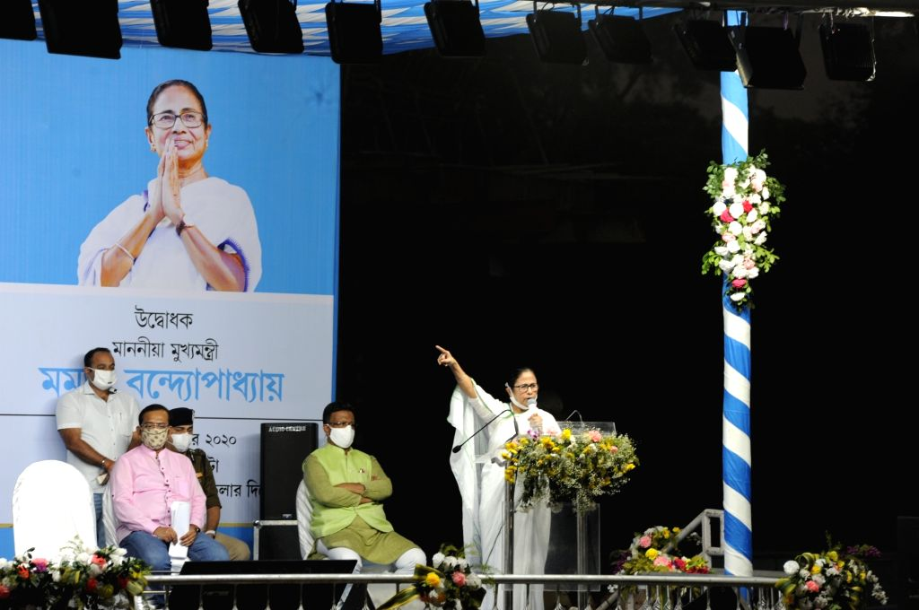 West Bengal Chief Minister Mamata Banerjee inaugurates the newly constructed Majerhat Railway bridge at Taratala, a portion of which collapsed in a major accident on 4 September 2018, after ... - Mamata Banerjee