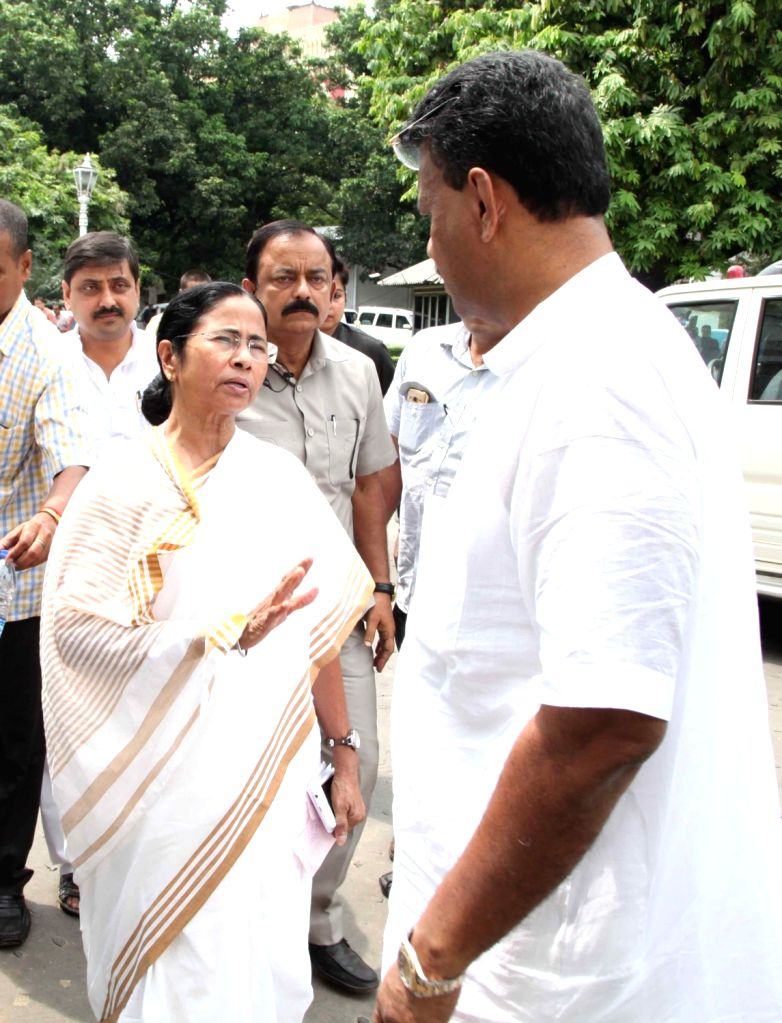 West Bengal Chief Minister Mamata Banerjee arrives at the state assembly during budget session of the assembly in Kolkata on June 23, 2016. - Mamata Banerjee