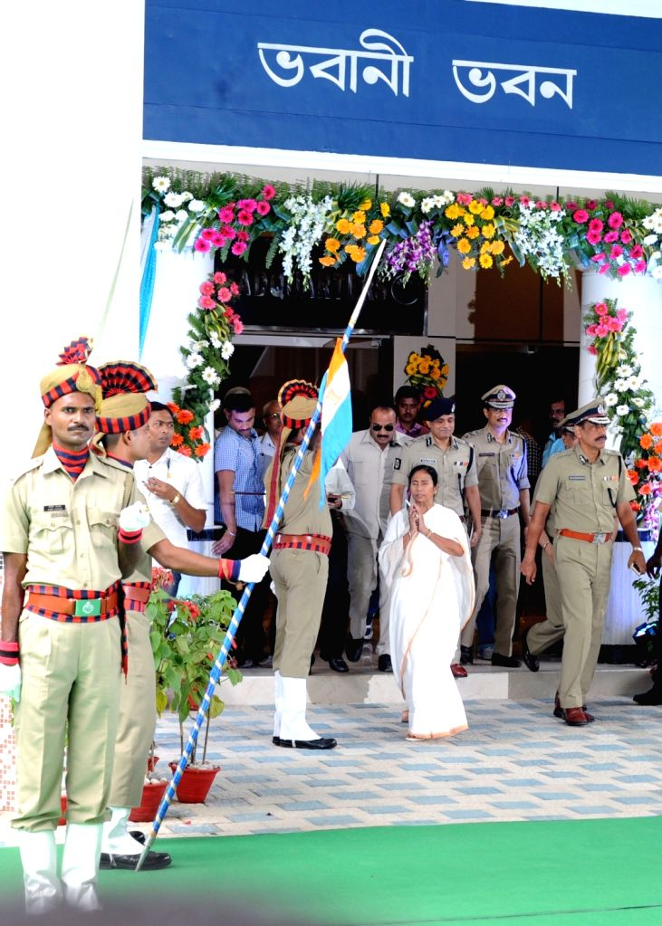 West Bengal Chief Minister Mamata Banerjee unveils the renovated state police directorate at Bhavani Bhavan in Kolkata on Aug 16, 2017. - Mamata Banerjee