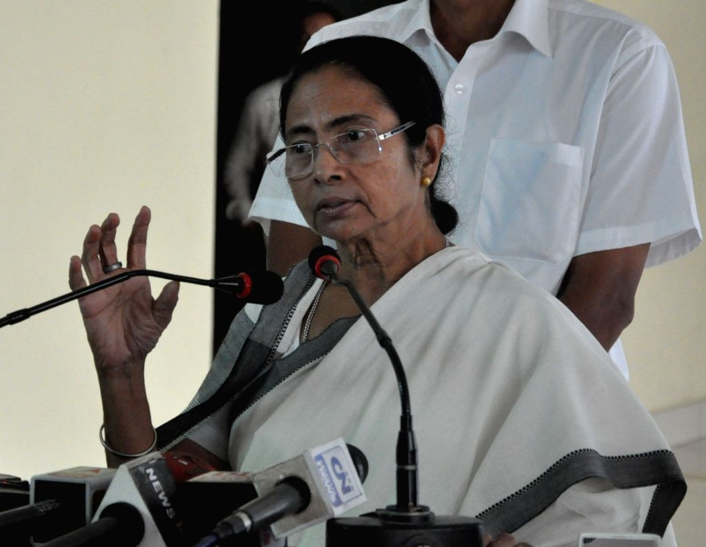 West Bengal Chief Minister Mamata Banerjee addresses a press conference at Nabanna in Howrah, West Bengal on Sep 16, 2017. - Mamata Banerjee