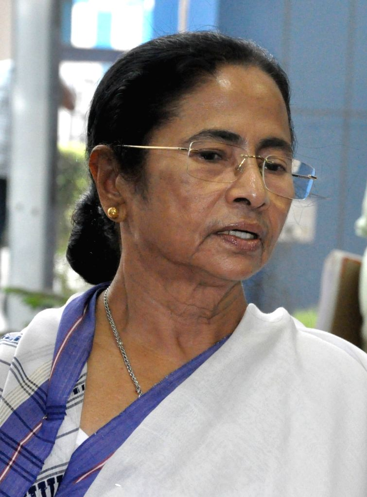 West Bengal Chief Minister Mamata Banerjee addresses a press conference at Nabanna in Howrah, on May 22, 2018. - Mamata Banerjee