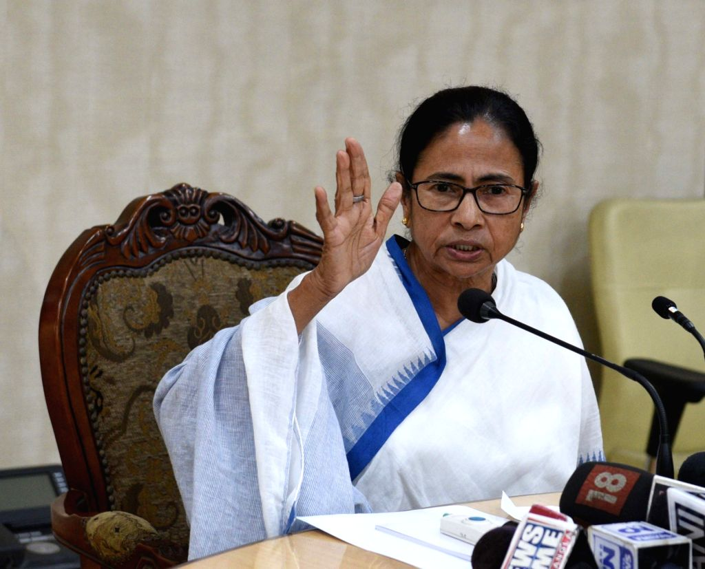 West Bengal Chief Minister Mamata Banerjee addresses a press conference at Nabanna in Howrah on Feb 18, 2019. - Mamata Banerjee