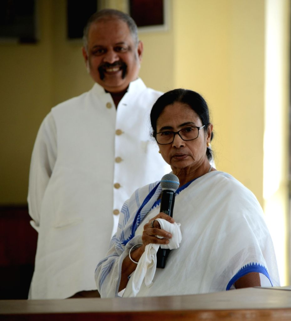 West Bengal Chief Minister Mamata Banerjee addresses the media on precautionary measures that can be followed by the people to stay protected from COVID-19 amid coronavirus pandemic, at ... - Mamata Banerjee