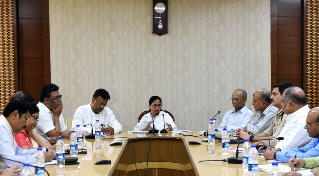 West Bengal Chief Minister Mamata Banerjee along with other minister and official during a meeting at Nabanna in Howrah on Feb 19, 2019. - Mamata Banerjee