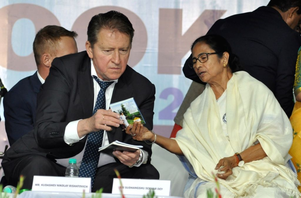 West Bengal Chief Minister Mamata Banerjee and Russian Ambassador to India, Nikolay Rishatovich Kudashev during inauguration 44th International Kolkata Book Fair in Kolkata on Jan 28, 2020. - Mamata Banerjee
