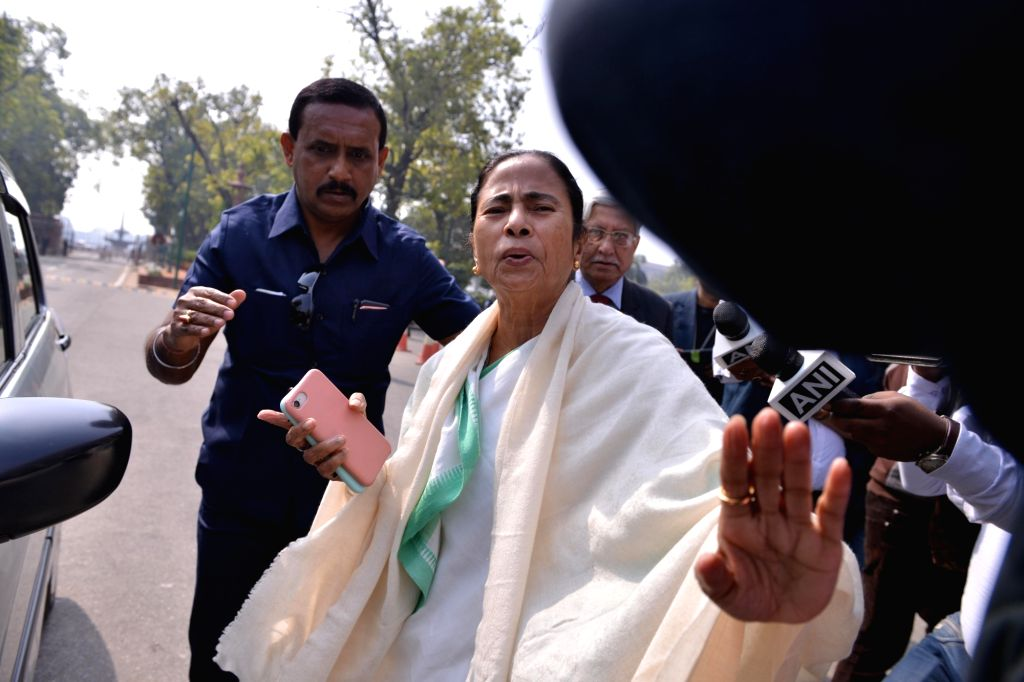 West Bengal Chief Minister Mamata Banerjee at Parliament in New Delhi on Feb 13, 2019. - Mamata Banerjee