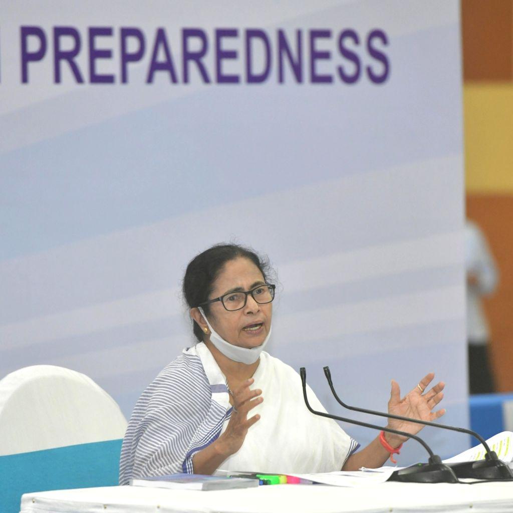 West Bengal Chief minister Mamata Banerjee at a review meeting at Nabanna Howrah in Kolkata on Monday 07 June, 2021. - Mamata Banerjee