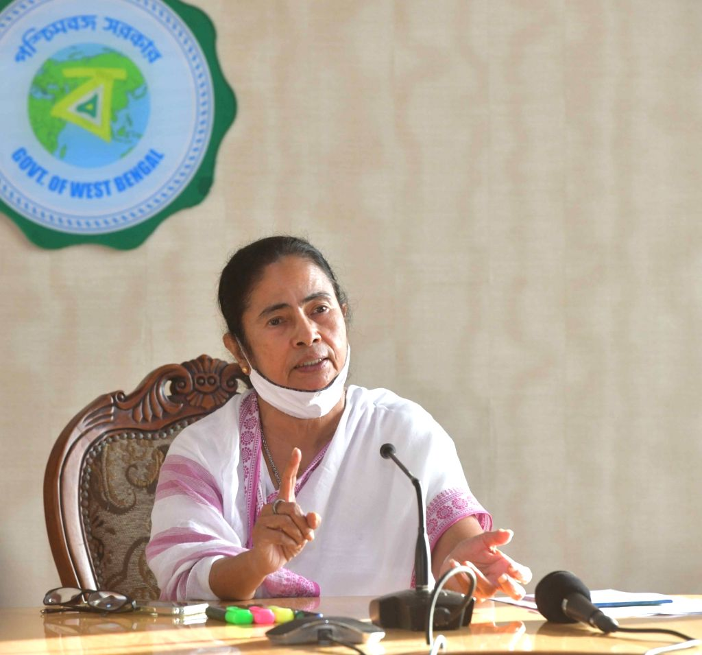 West Bengal Chief Minister Mamata Banerjee at a press conference after meeting with Government Officers on COVID and after storm cyclone Yash situations of Bengal at Howrah in Kolkata on ... - Mamata Banerjee