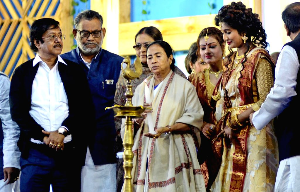 West Bengal Chief Minister Mamata Banerjee at the inauguration of 'Jatra Utsab 2017' in Barasat on Jan 13, 2017. - Mamata Banerjee