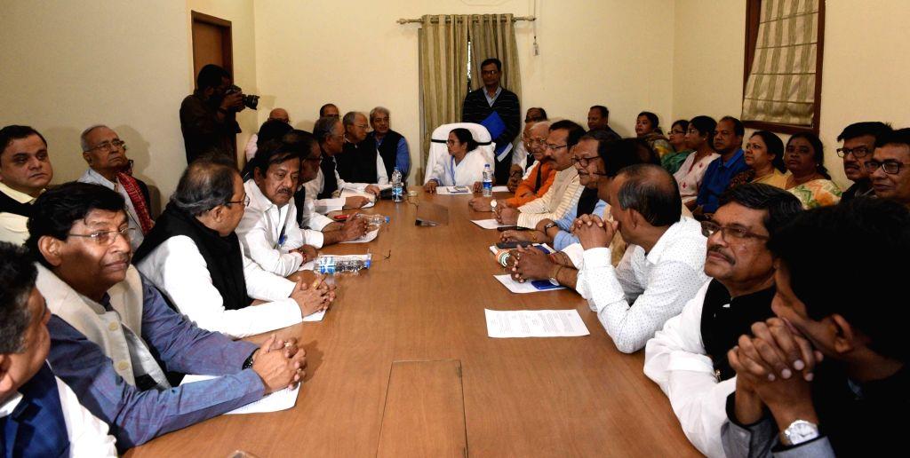 West Bengal Chief Minister Mamata Banerjee chairs a cabinet meeting in Kolkata, on Feb 4, 2019. - Mamata Banerjee