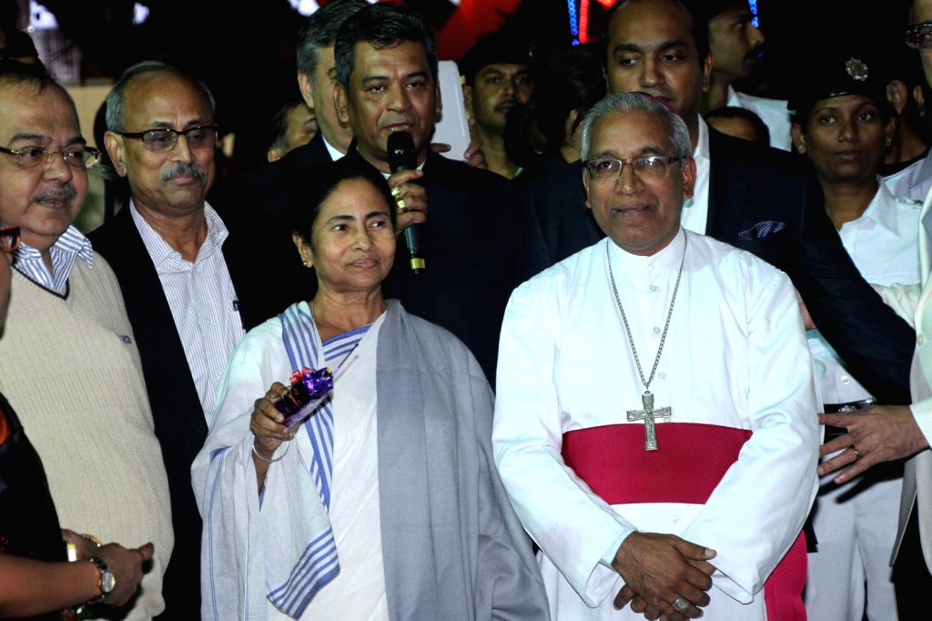 West Bengal Chief Minister Mamata Banerjee during inauguration of a Christmas programme in Kolkata on Dec.20, 2013.