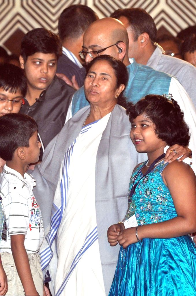 West Bengal Chief Minister Mamata Banerjee during 3rd Kolkata International Children's Film Festival in Kolkata on Dec.20, 2013.