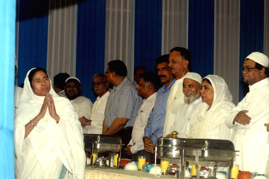 West Bengal Chief Minister Mamata Banerjee during an Iftaar Party in Kolkata on July 13, 2014.
