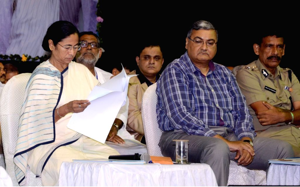 West Bengal Chief Minister Mamata Banerjee during an administrative meeting with the officials of North 24 Parganas, in Kolkata on July 1, 2016. - Mamata Banerjee
