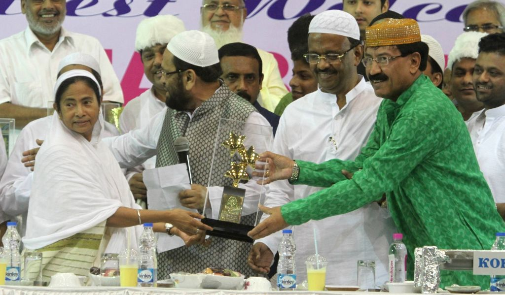 West Bengal Chief Minister Mamata Banerjee during an Ifter party organised by Mohammedan Sporting Club in Kolkata on July 4, 2016. - Mamata Banerjee
