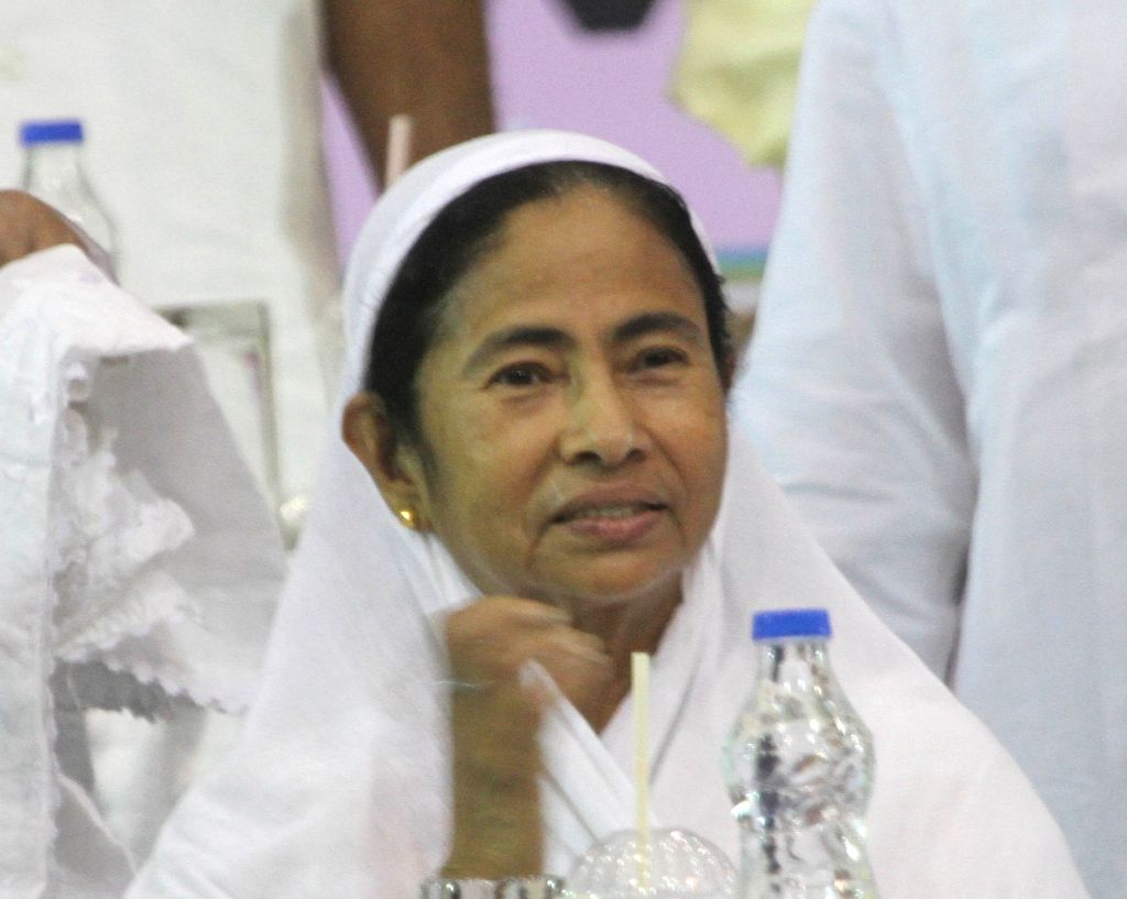 West Bengal Chief Minister Mamata Banerjee during an Iftaar party organised by Mohammedan Sporting Club in Kolkata on July 4, 2016. - Mamata Banerjee