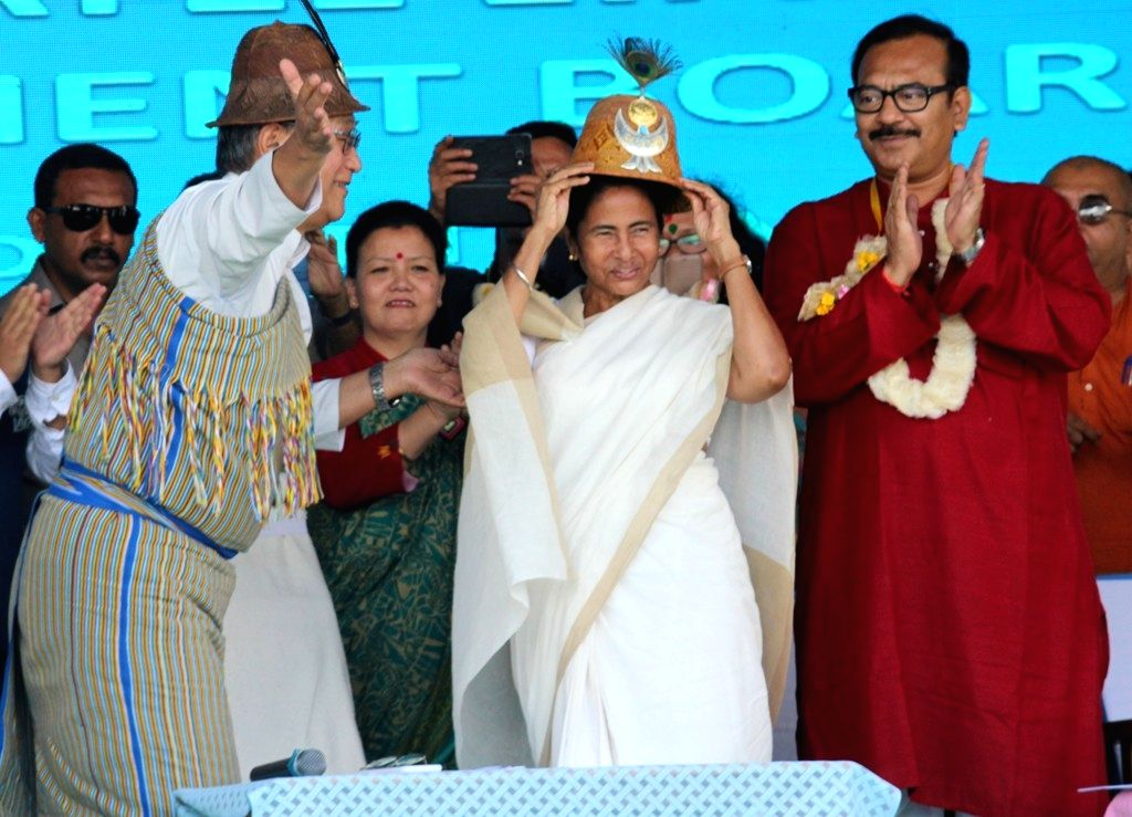 West Bengal Chief Minister Mamata Banerjee during the 5th founation day programme of lepchadevelopment and cultural board in Kalimpong of West Bengal on Sept 22, 2016. - Mamata Banerjee