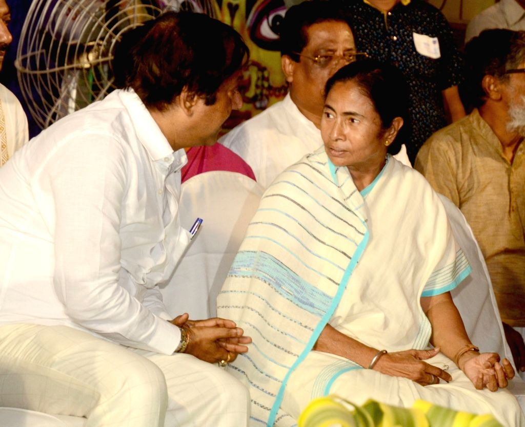 West Bengal Chief Minister Mamata Banerjee during the inauguration of the Sree Bhumi Sporting Club Durga Puja festival in Kolkata on Sept 28, 2016. - Mamata Banerjee