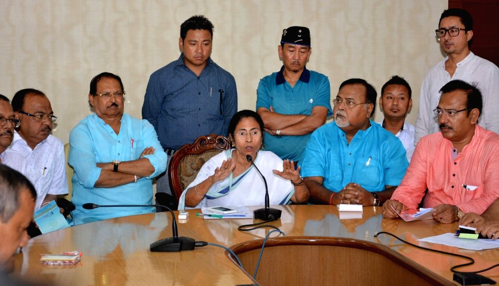 West Bengal Chief Minister Mamata Banerjee during a meeting regarding GJM indefinite shutdown in the northern Bengal hills at Nabanna in Howrah on June 17, 2017. - Mamata Banerjee