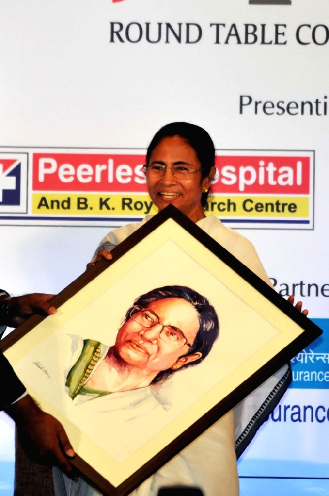 "West Bengal Chief Minister Mamata Banerjee during a Round table conference on ""Healthy Living In Corporate Life"" in Kolkata on Sep 6, 2017. - Mamata Banerjee"