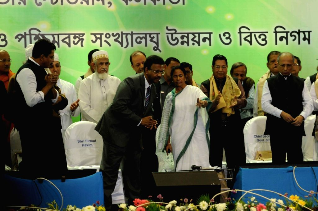 West Bengal Chief Minister Mamata Banerjee during a programme organised to present awards and scholarships to minorities in Kolkata, on Dec 5, 2017. - Mamata Banerjee
