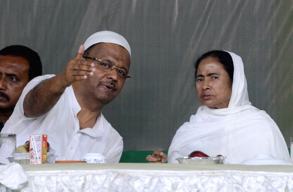 West Bengal Chief Minister Mamata Banerjee during an Iftar party in Kolkata on Jun 14, 2018. - Mamata Banerjee