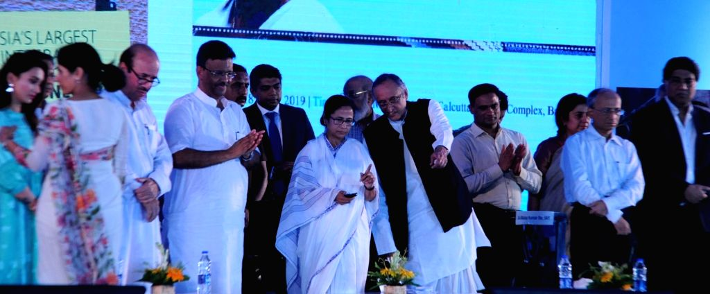 West Bengal Chief Minister Mamata Banerjee during a programme organsied to lay the foundation stone of new projects at Calcutta Leather Complex (CLC) at Bantala in Kolkata on July 18, 2019. - Mamata Banerjee