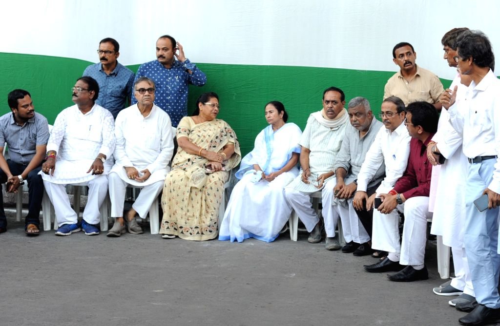 West Bengal Chief Minister Mamata Banerjee during her visit to review the preparations for Marty's Day rally, in Kolkata on July 20, 2019. - Mamata Banerjee