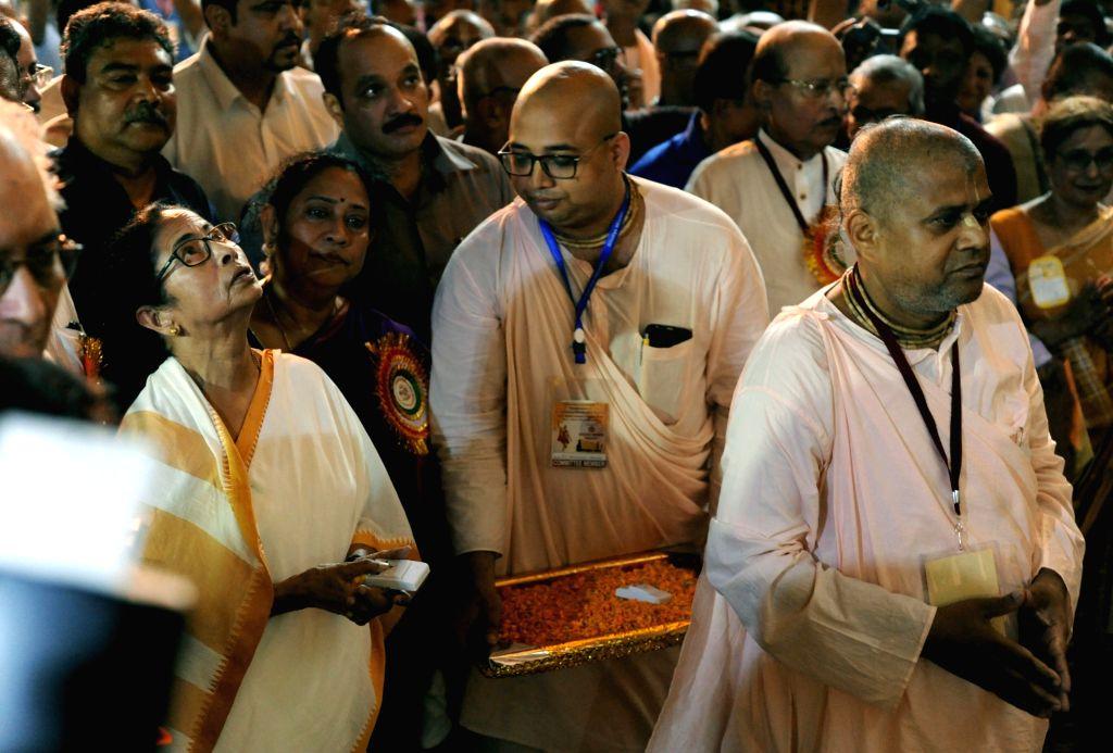 West Bengal Chief Minister Mamata Banerjee during inauguration of Sri Chaitanya Mahaprabhu Museum in Kolkata on Aug 13, 2019. - Mamata Banerjee
