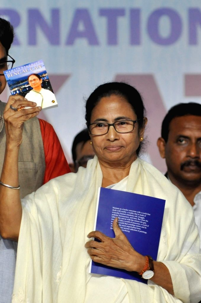 West Bengal Chief Minister Mamata Banerjee during inauguration 44th International Kolkata Book Fair in Kolkata on Jan 28, 2020. . - Mamata Banerjee