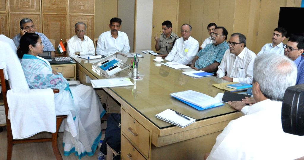 West Bengal Chief Minister Mamata Banerjee meets Health department officials at Nabanno in Howrah, on March 15, 2017. - Mamata Banerjee