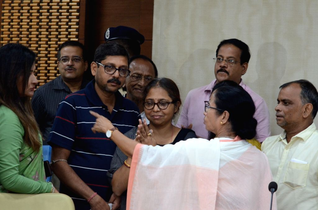 West Bengal Chief Minister Mamata Banerjee meets residents and all the agencies after buildings collapsed at Bowbazar area, where tunnel boring work for East West Metro corridor is being ... - Mamata Banerjee