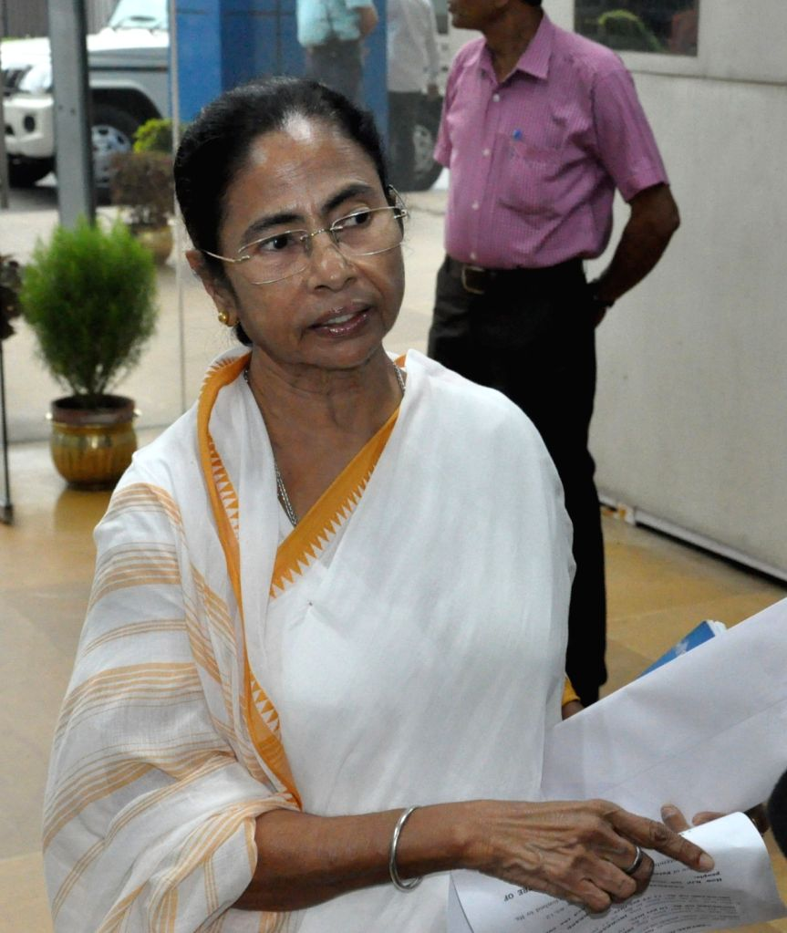 West Bengal Chief Minister Mamata Banerjee talks to a media at Nabanna, in Howrah, West Bengal, on Sept 11, 2018. - Mamata Banerjee