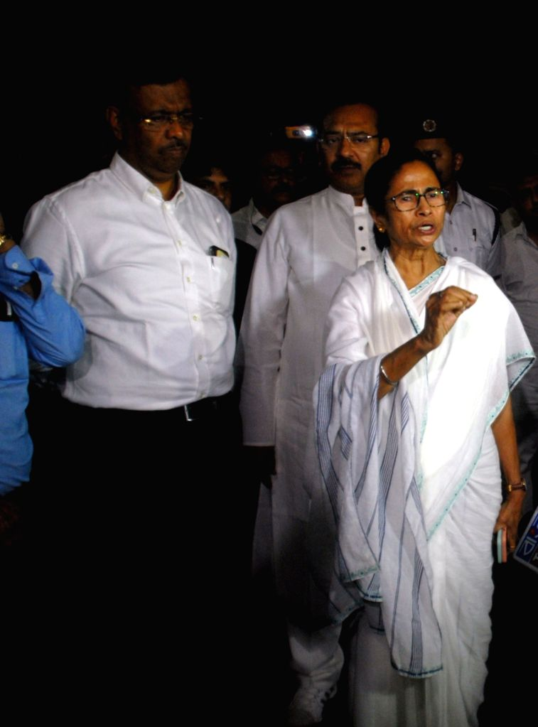 "West Bengal Chief Minister Mamata Banerjee visits SSKM hospital to inspect the health of Matua community matriarch Binapani Devi popularly known as ""Boroma"" in Kolkata on March 5, ... - Mamata Banerjee"