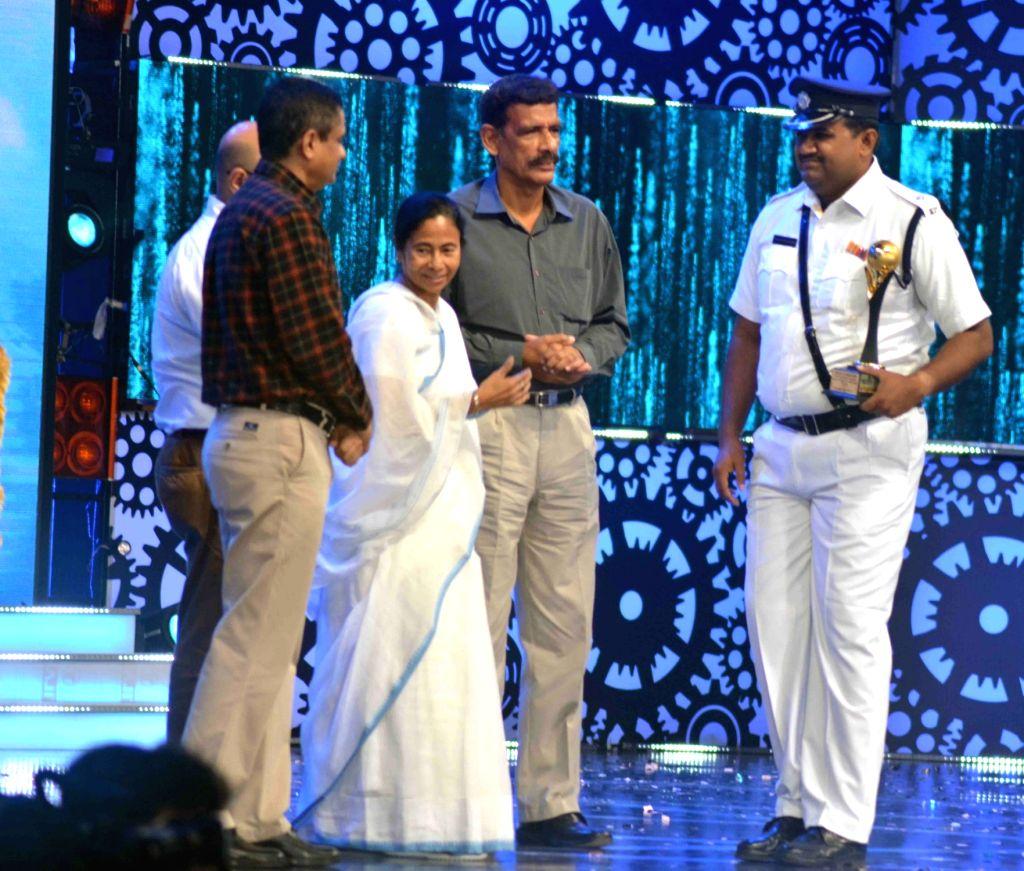 "West Bengal Chief Minister Mamta Banerjee during Kolkata Police's programme ""Jai Ho"" in Kolkata on Aug 17, 2017. - Mamta Banerjee"