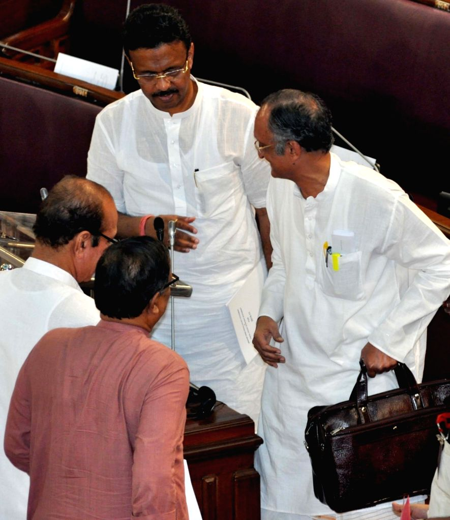 West Bengal Finance Minister Amit Mitra at the state assembly during budget session of the assembly in Kolkata on June 24, 2016. - Amit Mitra