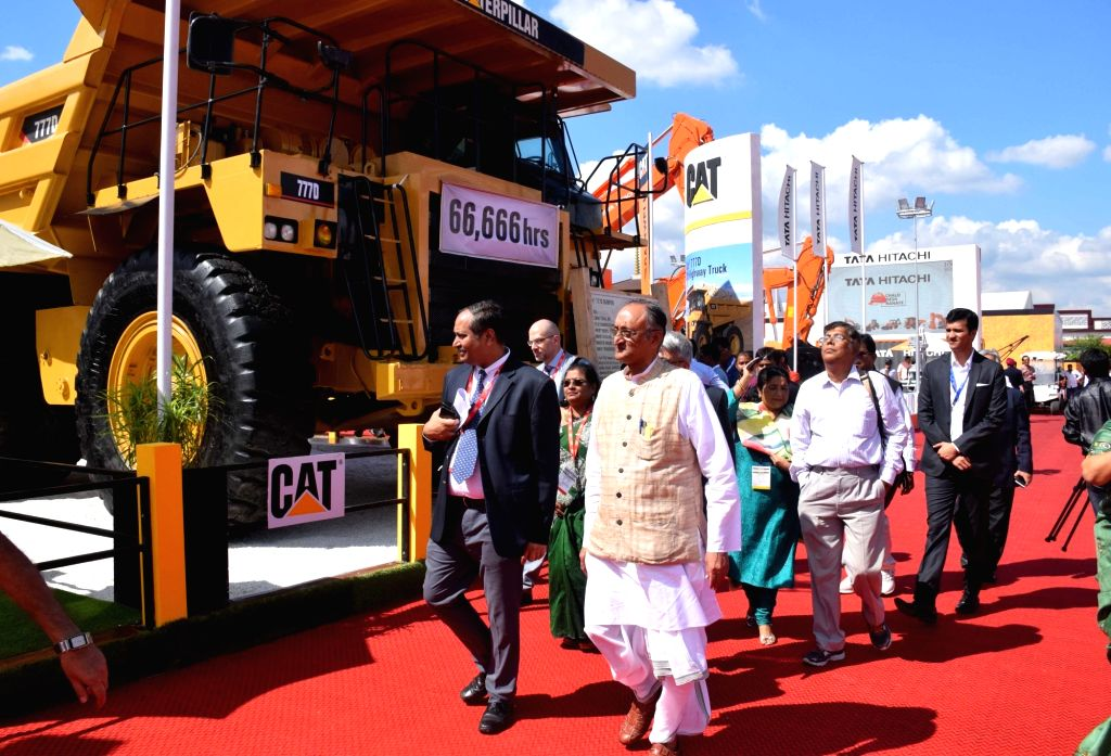 West Bengal Finance Minister Amit Mitra at the inauguration of Indian Mining & Machinery Exhibition ( IMME 2018) in Kolkata on Oct 31, 2018. - Amit Mitra