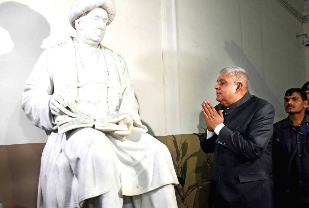 West Bengal Governor Jagdeep Dhankar during his visit to the University of Calcutta, on Dec 4, 2019.