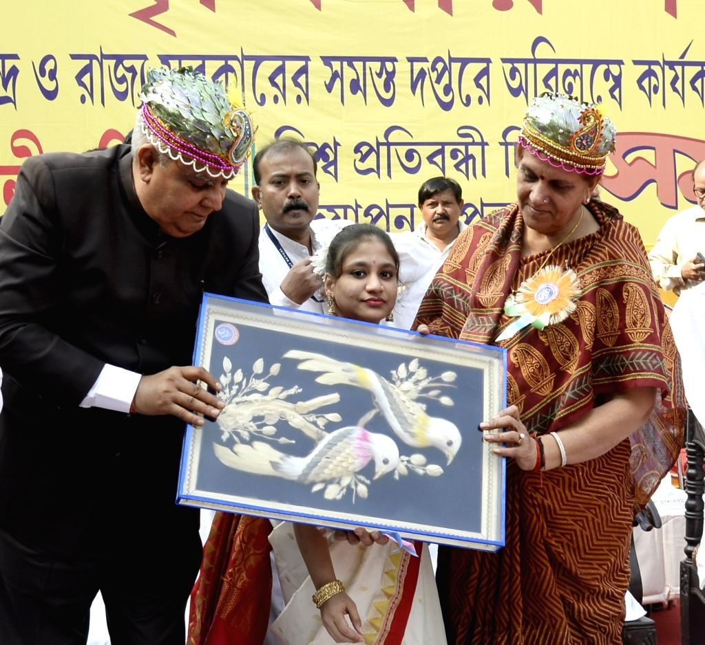 West Bengal Governor Jagdeep Dhankar participates in a programme organised on International Day of Disabled Persons, in Kolkata on Dec 3, 2019.