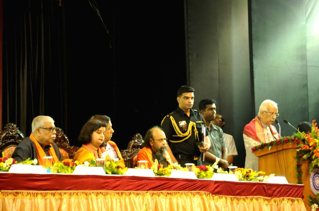 West Bengal Governor Keshari Nath Tripathi addresses during the convocation of  the University of Calcutta in Kolkata, on Dec 9, 2015. - Keshari Nath Tripathi