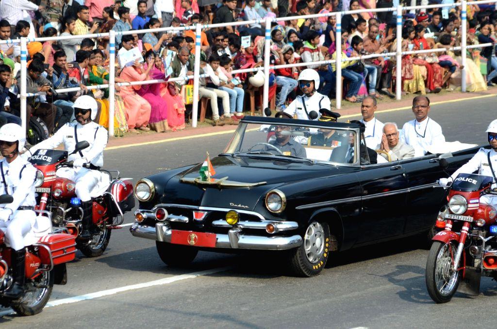 West Bengal Governor Keshari Nath Tripathi arrives to witness the 2019 Republic Day Parade at Red Road in Kolkata, on Jan 26, 2019. - Keshari Nath Tripathi