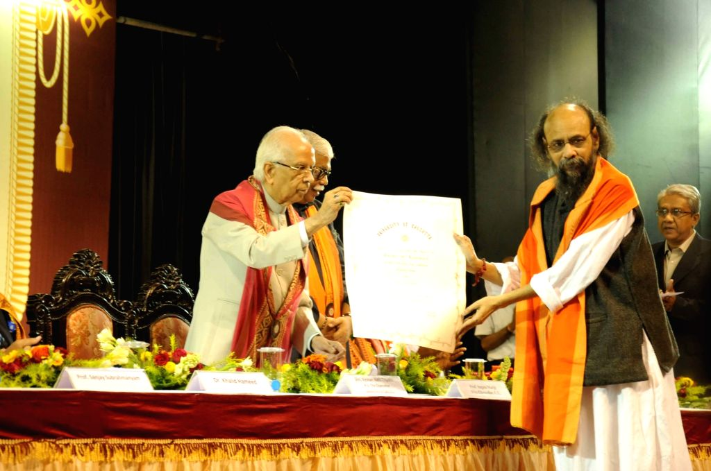West Bengal Governor Keshari Nath Tripathi  during the convocation of  the University of Calcutta in Kolkata, on Dec 9, 2015. - Keshari Nath Tripathi