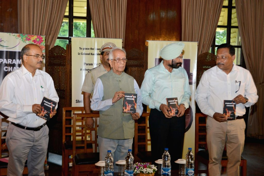 "West Bengal Governor Keshari Nath Tripathi during the launch of Colonel Kaushik Sircar's book ""Param Vir Chakra"" at Governor House in Kolkata on July 4, 2016. - Keshari Nath Tripathi"