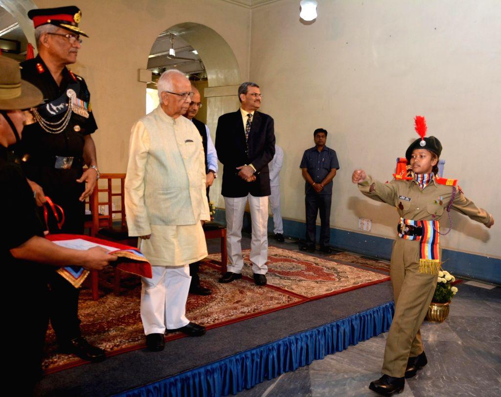 West Bengal Governor Keshari Nath Tripathi during an award ceremony where meritorious NCC Cadets were felicitated at Raj Bhawan, in Kolkata on Feb 6, 2019. - Keshari Nath Tripathi