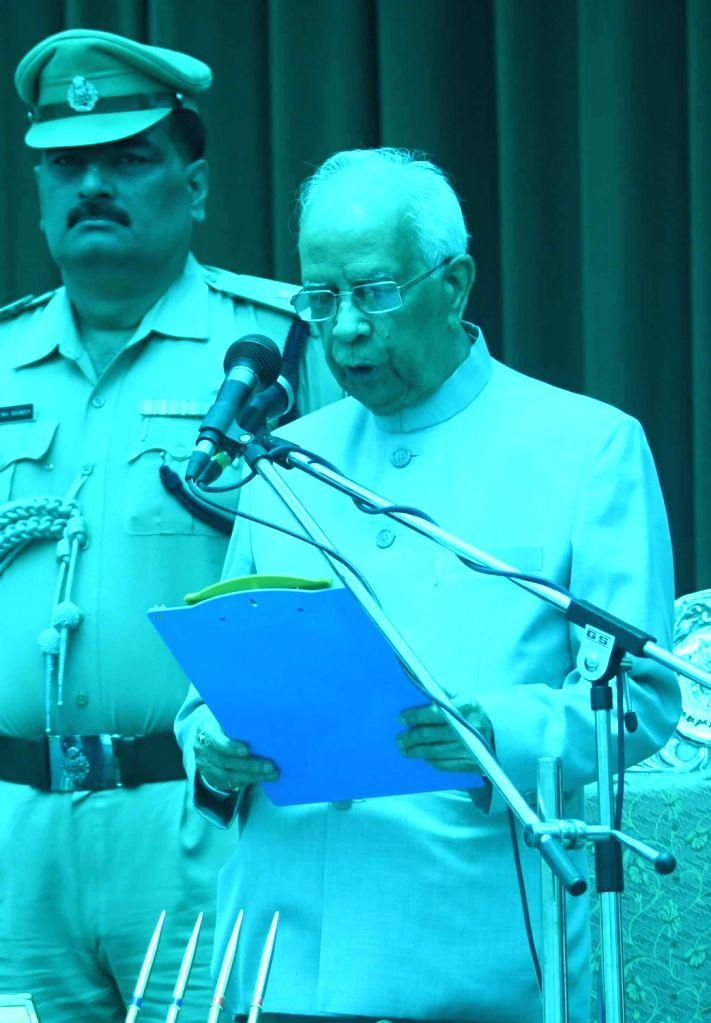 West Bengal Governor Keshari Nath Tripathi takes over additional charge as Bihar Governor at Raj Bhawan in Patna on June 22, 2017. - Keshari Nath Tripathi