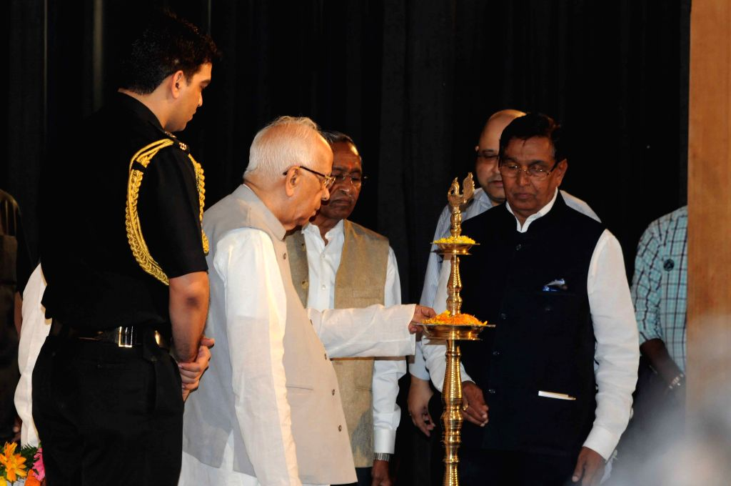 West Bengal Governor KN Tripathi during the Rupa Genious Award for meritorious students at ICCR in Kolkata, on Aug 12, 2015.