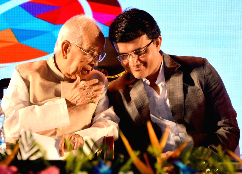 West Bengal Governor KN Tripathi interacts with CAB President Sourav Ganguly during the CAB Annual Award ceremony in Kolkata on July 27, 2018. - Sourav Ganguly