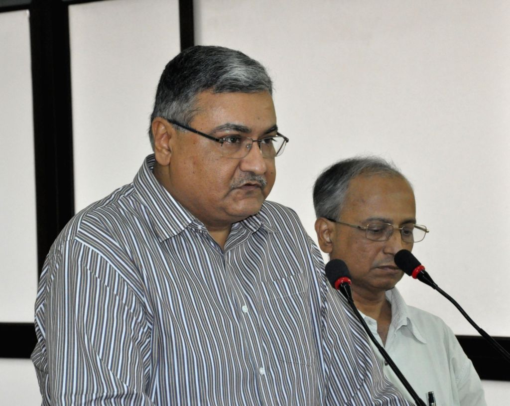 West Bengal Home Secretary Basudeb Banerjee addresses a press conference at Nabanna in Howrah on Nov 26, 2015.