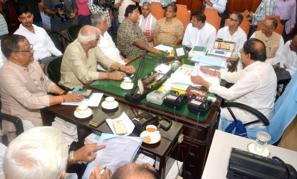 West Bengal Legislative Assembly Speaker Biman Banerjee chairs an all-party meeting, in Kolkata on July 18, 2018. - Biman Banerjee