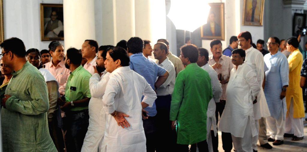 West Bengal legislators during Rajya Sabha elections at state assembly in Kolkat aon March 23, 2018.